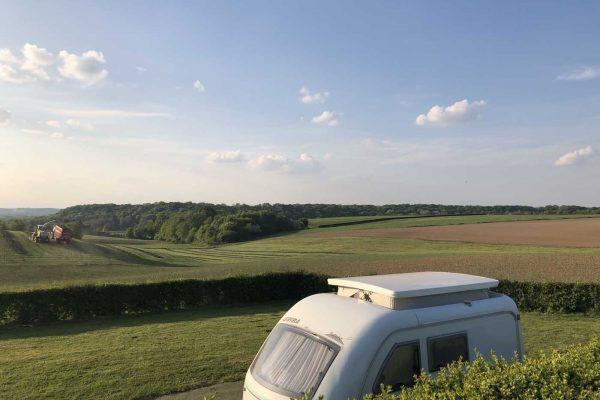 camping in het heuvelland