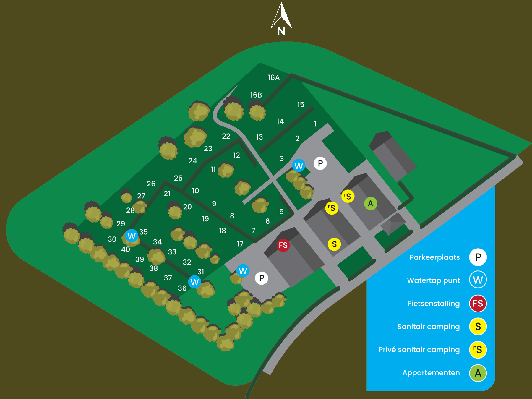 plattegrond de mescherhei camping